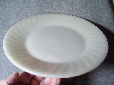 Fire King White Glass 9 1/8 Plate Restaurant Ware
