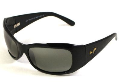 Maui Jim Hibiscus Sunglasses 134 02 Gloss Black/Grey